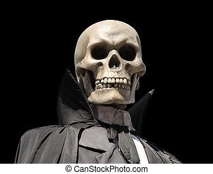 grim reaper. death\'s skeleton - portrait of a death...