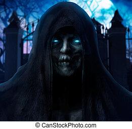 Grim reaper ghost face.