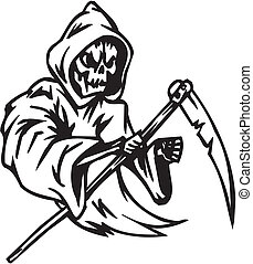 Grim reaper - Halloween Set - vector illustration -...