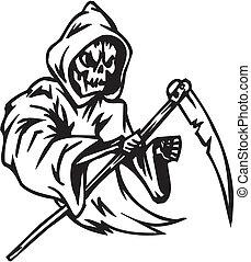 Grim reaper - Halloween Set - vector illustration -...