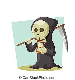grim reaper holding hourglass