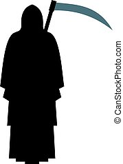 Grim reaper icon isolated - Grim reaper icon flat isolated...