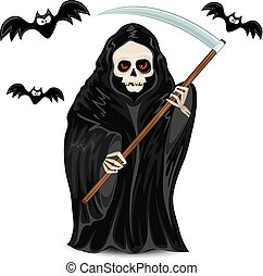 Grim Reaper isolated for Halloween
