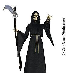 Grim Reaper Pointing - The Grim Reaper pointing - 3D render.