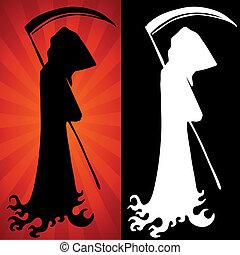 An image of a grim reaper set.