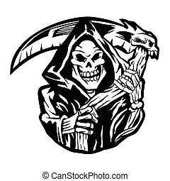 grim reaper sign.grim reaper tattoo.