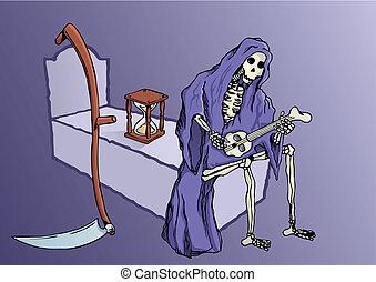 Grim reaper vector - Grim reaper resting playing music...