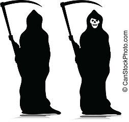 grim reaper vector silhouettes