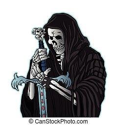 grim reaper with sword .grim reaper tattoo.