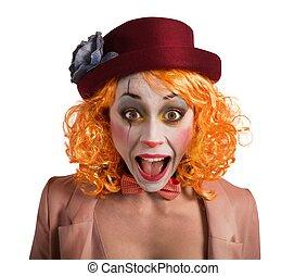 grimace, clown