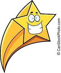 grimacer, étoile filante, dessin animé