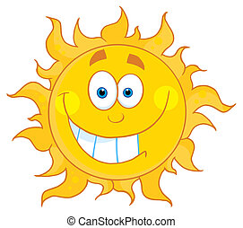 grimacer, soleil