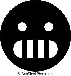 grimacing, emoji
