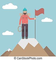grimpeur, dessus