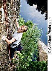 grimpeur, femme
