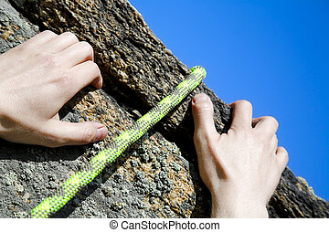 grimpeurs, mains