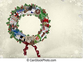 grinalda, cartão natal