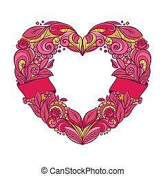 grinalda coração, dado forma