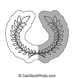 grinalda, folhas, ornamento