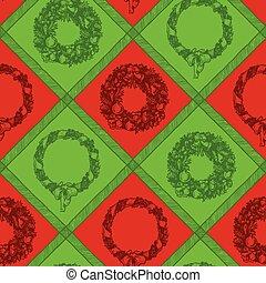 grinalda natal, seamless, padrão