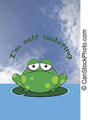 grincheux, soi, isoler, grenouille
