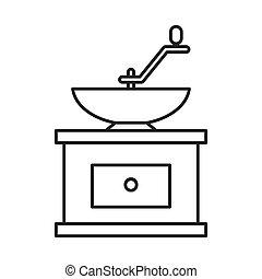 Grind machine coffee icon