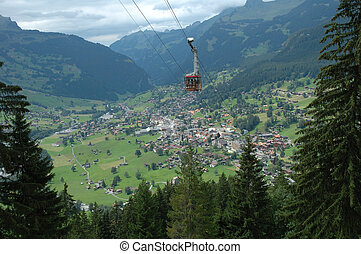 Grindelwald in Alps Switzerland