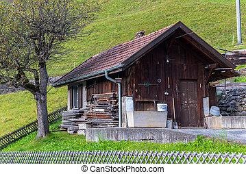 grindelwald, villaggio, svizzera