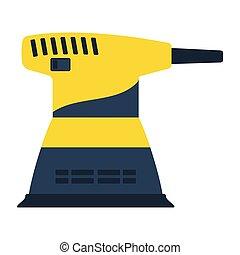 Grinder icon. Flat color design. Vector illustration.