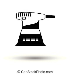 Grinder icon. White background with shadow design. Vector...