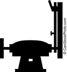 Grinder machine, shade picture