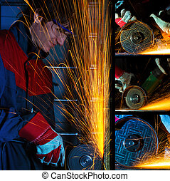 Grinding iron collage