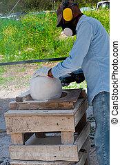 Grinding stone ball