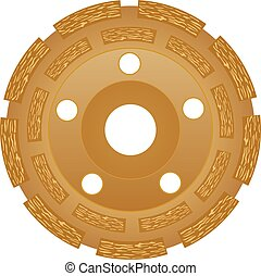 Grinding wheel for glass processing vector eps 10