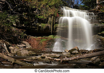 Grindstone Falls - Grindstone Falls, in Smokey Hollow,...