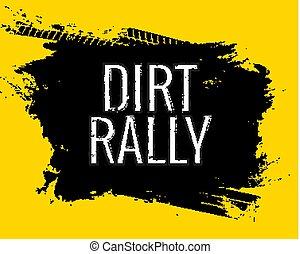 gringe, roda, impressionar, sujeira, pneu, car, sujo, texture., ou, rally, motocicleta, rastro, palavra, raça, estrada, pista