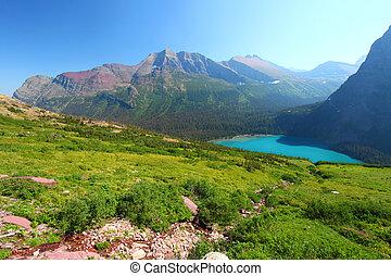 Grinnell Lake in Glacier Park