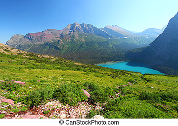 Grinnell Lake in Glacier Park