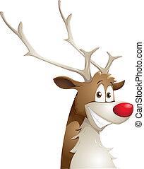 grinnign reindeer