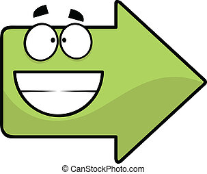 Grinning Cartoon Arrow