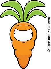 Grinning Cartoon Carrot
