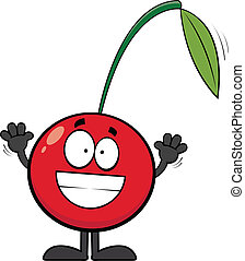 Grinning Cartoon Cherry
