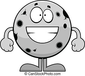 Grinning Cartoon Moon