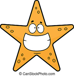 Grinning Cartoon Starfish