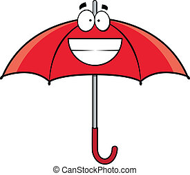 Grinning Cartoon Umbrella