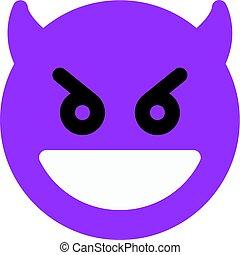 grinning devil emoji