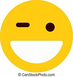 grinning emoji winking