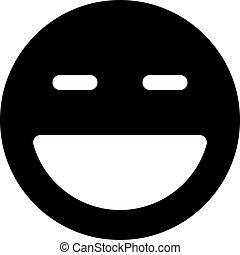 grinning emoji with closed eyes