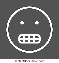 Grinning - Grin, teeth, smile icon vector image. Can also be...