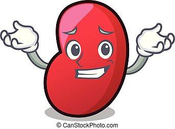 Grinning jelly bean character cartoon vector illustration